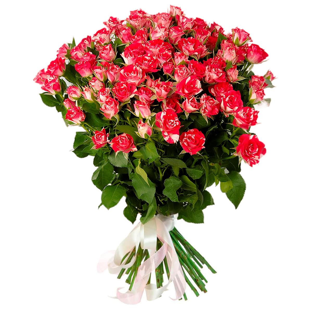 Составление букет из кустовых роз, купить оптом